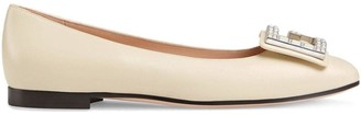 Gucci Leather ballet flat with crystal G