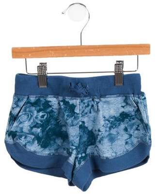 Stella McCartney Girls' Floral Print Mini Shorts