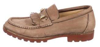 Gucci Suede Kiltie Loafers