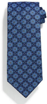 Stefano Ricci Square Medallion-Print Silk Tie $275 thestylecure.com