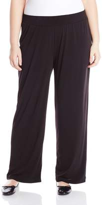 NY Collection Women's Plus-Size Solid ITY Pant