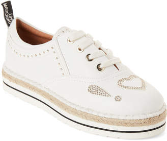 Love Moschino White Studded Espadrille Sneakers