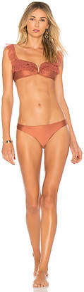 Zimmermann Corsair Shoulder Frill Bikini