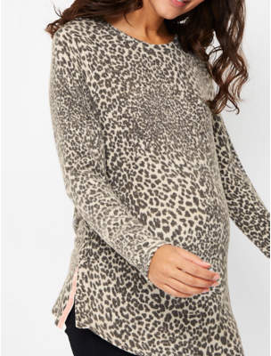 George Maternity Leopard Print Soft Touch Knitted Top a5b9b0974