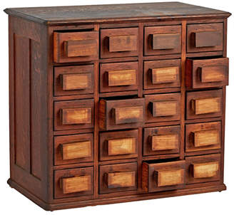 Rejuvenation Twenty-Drawer Parts Cabinet w/ Chunky Wooden Handles
