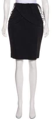 Just Cavalli Draped Knee-Length Skirt