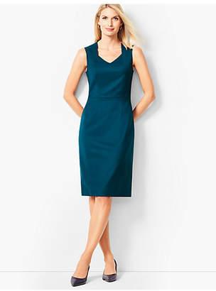 Talbots Luxe Italian Flannel Sheath Dress