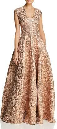 Paule Ka Metallic Jacquard Gown