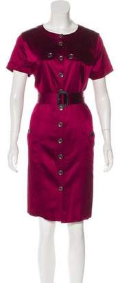 Burberry Satin Belted Dress