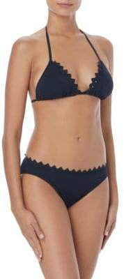 Vince Camuto Triangle Scallop Bikini Top