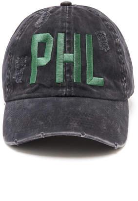 David & Young Philadelphia Distressed Black Baseball Hat