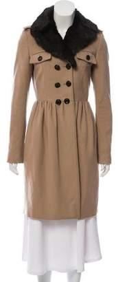 Burberry Fur Trim Coat