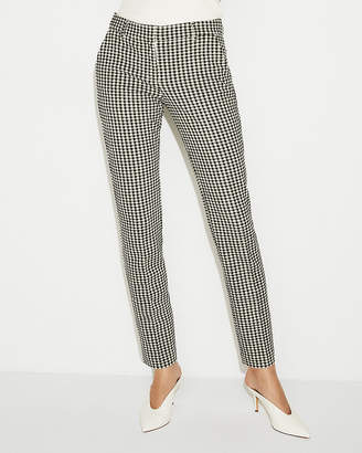 Express Mid Rise Gingham Columnist Ankle Pant