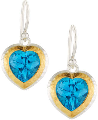Gurhan Romance Swiss Blue Topaz Heart Earrings