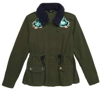 Bebe Embellished Cargo Jacket