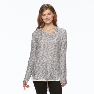 Women's Apt. 9® Sequin V-Neck Sweater $50 thestylecure.com