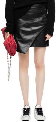 Zadig & Voltaire Just Leather Mini Skirt