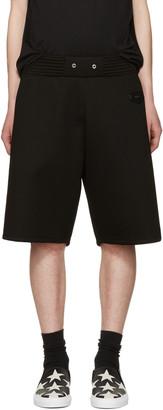 Givenchy Black Neoprene Shorts $835 thestylecure.com