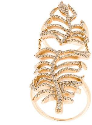 Elise Dray leaf cuff ring