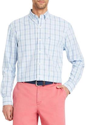 Izod Premium Essential Glen Plaid Cotton Sport Shirt