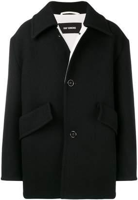 Raf Simons oversized single breasted coat
