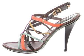 Louis Vuitton Leather Caged Sandals