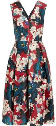 Erdem Loren Printed Silk-Gazar Dress