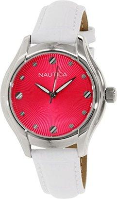 Nautica (ノーティカ) - ノーティカWomen 's n10508 mホワイトレザークォーツ腕時計