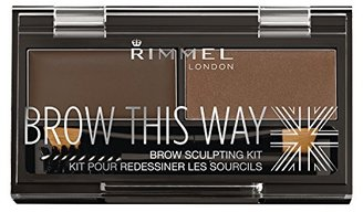 Rimmel Brow This Way Sculpting Kit, Dark Brown, 0.04 Ounce $5.99 thestylecure.com