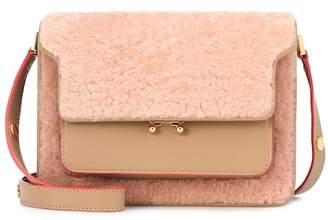 Marni Trunk shearling shoulder bag