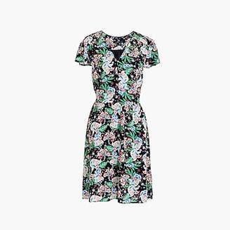 J.Crew Short-sleeve button-front dress in island floral