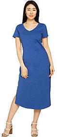 C. Wonder Petite Essentials Slub KnitMidi Dress