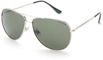 Tommy Hilfiger Silver-Tone Jordan Aviator Sunglasses