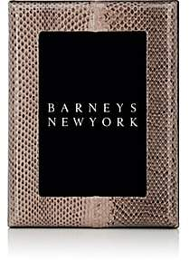 "Barneys New York Studio Python-Embossed Leather 4"" x 6"" Picture Frame-Taupe Python"
