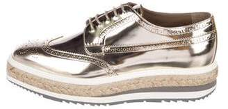 Prada Leather Espadrille Brogues w/ Tags