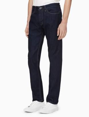 Calvin Klein slim leg delta blue selvedge jeans