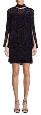 Akris Printed Mockneck Shift Dress