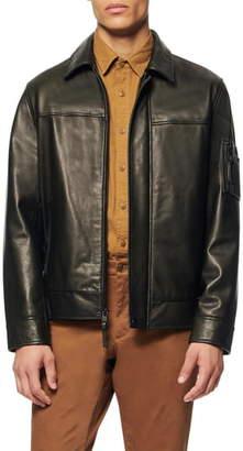 Andrew Marc Balthazar Lightweight Calfskin Jacket