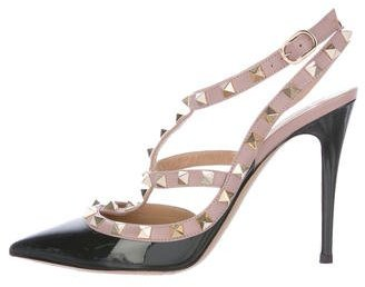 Valentino Rockstud Patent Leather Pumps $780 thestylecure.com