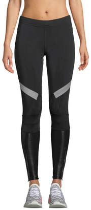 adidas by Stella McCartney Mid-Rise Paneled Running Tights