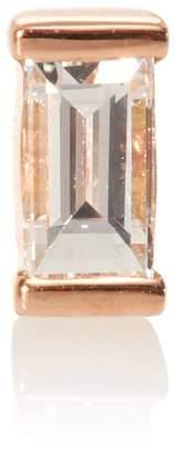 Maria Tash Diamond Baguette 18kt rose gold single earring with diamond