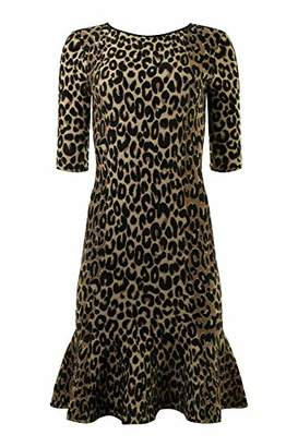 3c0ae198bf Milly Women s Knit Textured 3 4 Sleeve Cheetah Mermaid Hem Dress