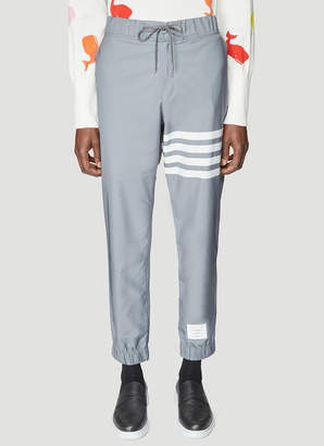 Thom Browne 4 Bar Track Pants in Grey
