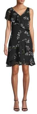 ABS by Allen Schwartz Collection Floral-Print Fit--Flare Dress