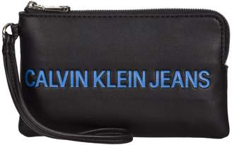 Calvin Klein Jeans In Leather Envelope Clutch