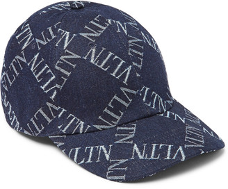 Valentino Garavani Logo-Jacquard Denim Baseball Cap - Men - Blue