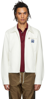 Prada White Techno Jersey Jacket
