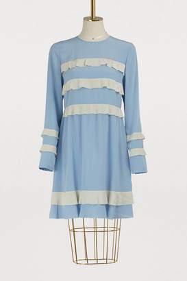 RED Valentino Crepe de Chine dress with ruffles