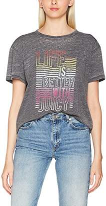Juicy Couture Women's Life is Better with Juicy T-Shirt,8 (Manufacturer Size: S)