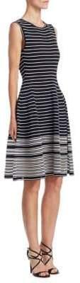 Oscar de la Renta Silk Striped Dress